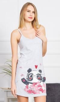 367ceb62495 Dámská noční košile na ramínka Panda
